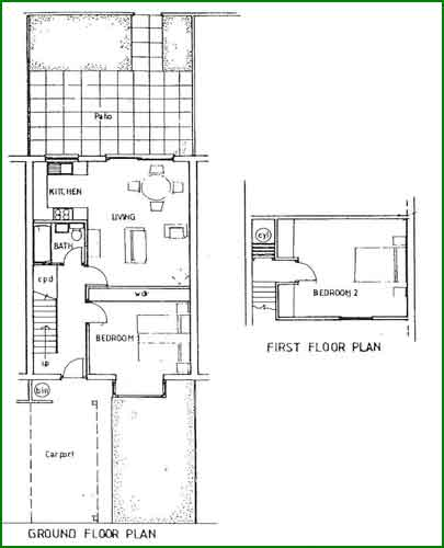 Consort village two bedroom bungalows for Two bedroom bungalow plans